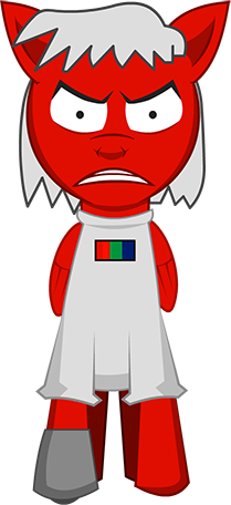 Dr. Atmosphere's sprite. He has a red coat, a gray mane and a look that could kill