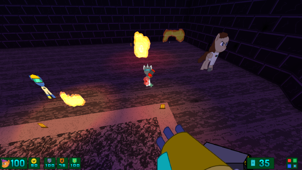 Screenshot of Scoot Hard DX in it's final stages